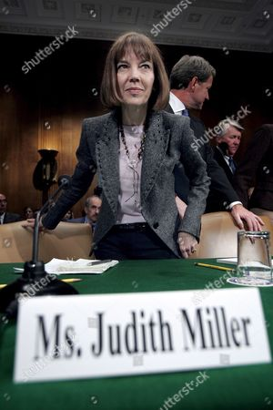 New York Times Reporter Judith Miller Testifies Before the Senate Judiciary Committee On a Proposed Federal Law That Would Allow Reporters to Keep the Identity of Their Sources Secret On Capitol Hill in Washington Dc Wednesday 19 October 2005 Miller Was Jailed For 85 Days For Refusing to Reveal Her Sources to Special Counsel Patrick Fitzgerald Who Was Directed by the Justice Department to Investigate the Disclosure of Undercover Cia Officer Valerie Plame's Identity
