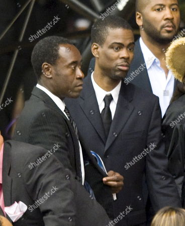 U S Actor Don Cheadle (l) and Comedian Chris Rock (c) Arrive at the Memorial Service For U S Actor and Comedian Bernie Mac at the House of Hope Church in Chicago Illinois Usa 16 August 2008 Mac 50 Died in a Chicago Hospital On 09 August From Complications Due to Pneumonia