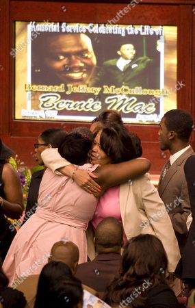 Rhonda Mccullough (l) the Widow of Us Actor and Comedian Bernie Mac is Comforted by Friends Before the Start of His Memorial Service at the House of Hope Church in Chicago Illinois Usa 16 August 2008 Mac 50 Died in a Chicago Hospital On 09 August From Complications Due to Pneumonia