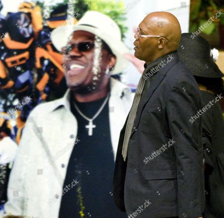 Us Actor Samuel L Jackson Walks Past a Poster of Us Actor and Comedian Bernie Mac Before the Start of the Memorial Service For Mac at the House of Hope Church in Chicago Illinois Usa 16 August 2008 Mac 50 Died in a Chicago Hospital On 09 August From Complications Due to Pneumonia