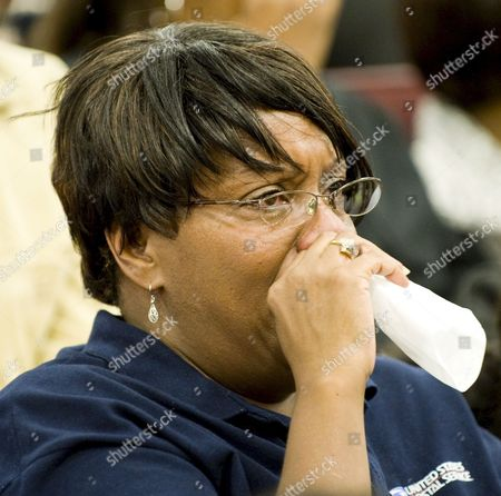 An Attendee at the Memorial Service For Us Actor and Comedian Bernie Mac Wipes Away Tears During Service at the House of Hope Church in Chicago Illinois Usa 16 August 2008 Mac 50 Died in a Chicago Hospital On 09 August From Complications Due to Pneumonia