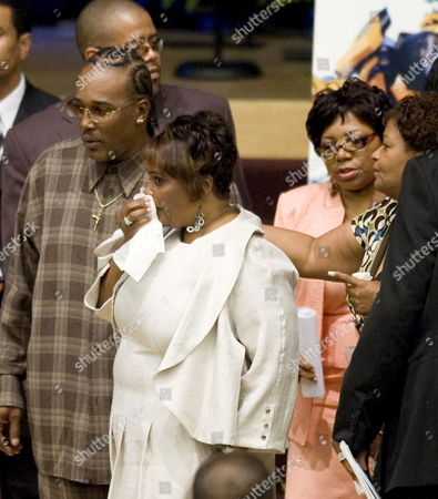Rhonda Mccullough (c) the Widow of Us Actor and Comedian Bernie Mac is Comforted by Friends As She Walks to Her Seat Before the Start of Mac's Memorial Service at the House of Hope Church in Chicago Illinois Usa 16 August 2008 Mac 50 Died in a Chicago Hospital On 09 August From Complications Due to Pneumonia