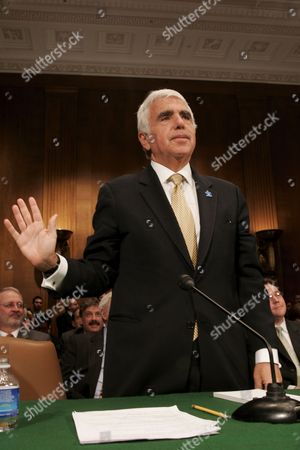 Chief Executive Officer (ceo) of Sirius Satellite Radio Mel Karmazin is Sworn in Prior to Testifying Before the Senate Judiciary Committee Subcommittee Hearing On the Xm-sirius Satellite Radio Merger On Capitol Hill in Washington Dc Tuesday 20 March 2007
