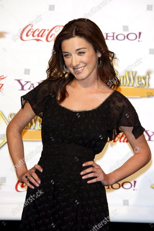 Us Actress Margo Harshman Receives the Female Stars of Tomorrow Award at the 2009 Showest Awards in Las Vegas California Usa 02 April 2009 the Closing Night Ceremony For the 2009 Showest Features Top Film Industry Talent at the Final Night Banquet and Awards Ceremony