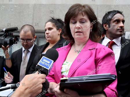 Michelle Diskin Sister of Barry George Makes a Statement Outside the Old Bailey in London Britain 01 August 2008 Barry George Was Found not Guilty 01 August of Murdering Bbc Television Presenter Jill Dando Outside Her London Home Mr George 48 of Fulham West London Denied Shooting 37-year-old Miss Dando On Her Doorstep On 26 April 1999 He Was Retried at the Old Bailey Having First Been Convicted in 2001 Forensic Evidence of Gunshot Residue Had Been Ruled Inadmissible in a Statement Issued Through His Solicitor Jeremy Moore Mr George Said He Was 'Overwhelmed' by the Verdict