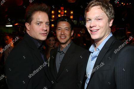 Brendan Fraser, Russell Wong and Luke Ford