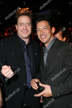Brendan Fraser and Russell Wong