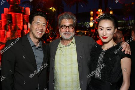 Russell Wong, Producer Sean Daniel and Isabella Leong