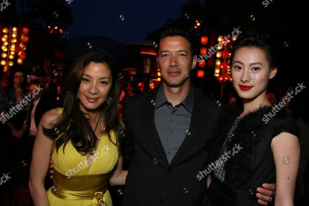 Michelle Yeoh, Russell Wong and Isabella Leong