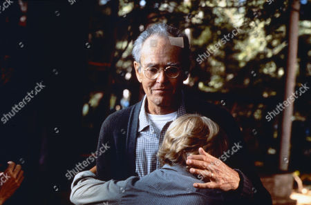 'On Golden Pond' Film - 1981 -  Norman Thayer, as played by Henry Fonda, with plaster on his head, hugs his grandson Billy Ray, as played by Doug McKeon.
