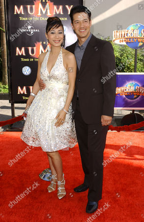 Flora Kim and Russell Wong