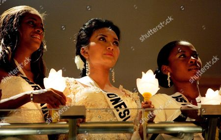 Editorial photo of Thailand Miss Universe 2005 Candlelight Aids - May 2005