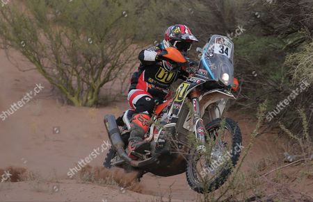 Argentinian Diego Martin Duplessis rides his KTM during the 11st stage of the Rally Dakar 2017 between San Juan and Rio Cuarto, Argentina, 13 January 2017.