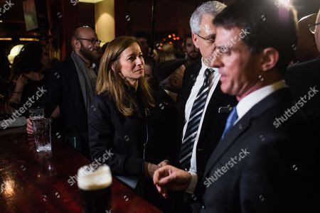 Anne Gravoin, Philippe Doucet and Manuel Valls