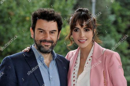 Stock Picture of Enrico Ianniello and Rocio Munoz Morales