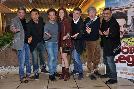 Tony Sperandero, Vincenzo Amato, Salvatore Ficarra, Eleonora De Luca, Valentino Picone, Antonio Catania and Sergio Friscia