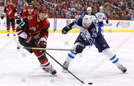 Editorial picture of Jets Coyotes Hockey, Glendale, USA - 13 Jan 2017