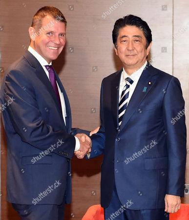 Shinzo Abe and Mike Baird