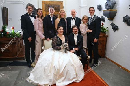 Editorial photo of Wedding of Countess Diana Bernadotte of Wisborg and Stefan Dedek, Mainau Island, Germany - 13 Jan 2017