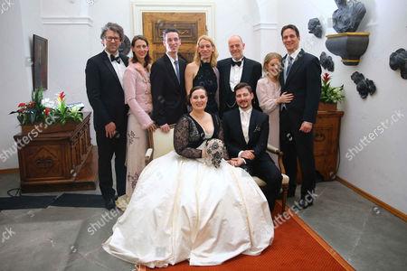 Editorial picture of Wedding of Countess Diana Bernadotte of Wisborg and Stefan Dedek, Mainau Island, Germany - 13 Jan 2017