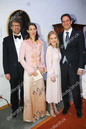 Countess Bettina Bernadotte, husband Philipp Haug, Bjoern Count Bernadotte and wife Countess Sandra