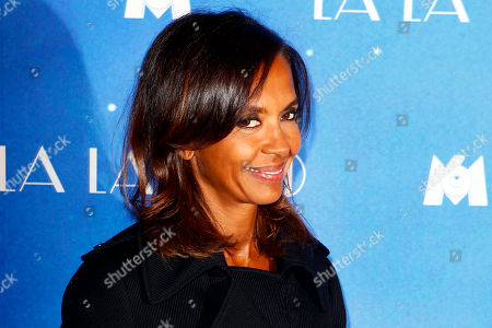 """French TV presenter Karine Le Marchand poses for a photo call for the French premiere of """"La La Land"""" in Paris"""