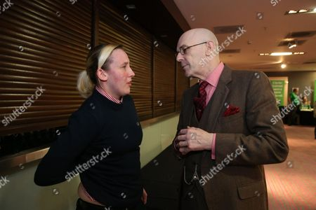 Mhairi Black MP (SNP, Paisley and Renfrewshire South) speaks with Paul Kavanagh ('The Wee Ginger Dug', Scottish independence blogger and newspaper columnist)