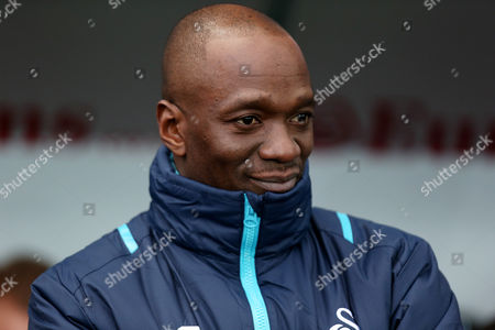 Swansea City Assistant Manager Claude Makelele during the Premier League match between Swansea City and Arsenal played at the Liberty Stadium, Swansea on 14th January 2017