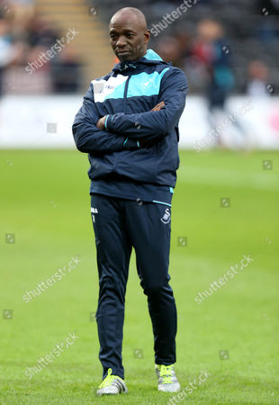 Swansea City Assistant Manager Claude Makelele before the Premier League match between Swansea City and Arsenal played at the Liberty Stadium, Swansea on 14th January 2017