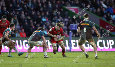 Editorial image of European Rugby Challenge Cup Round 5, The Twickenham Stoop, London  - 14 Jan 2017