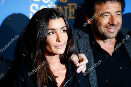 """Jenifer Bartoli, left, and Patrick Bruel pose during a photo call for the french premiere of """"Tous en Scene"""" at Le Grand Rex in Paris, France"""