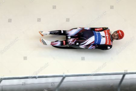 Chris Rene Eissler of Germany in action at the FIL Viessmann Luge World Cup in Sigulda, Latvia 15 January 2017.