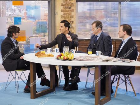 Robert Peston with Russell Kane, Alastair Campbell, Sir Craig Oliver
