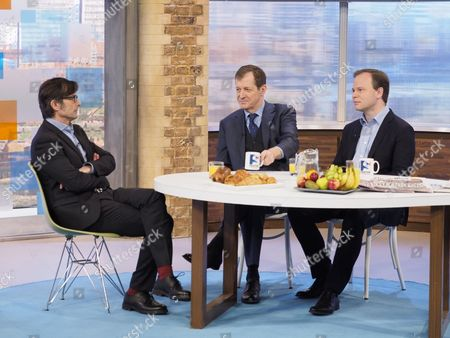 Robert Peston with Alastair Campbell and Sir Craig Oliver