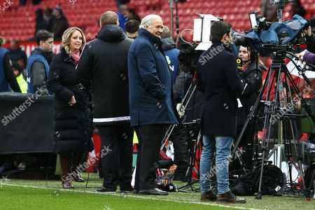 Ron Atkinson before the Premier League match between Manchester United and Liverpool played at Old Trafford, Manchester, on 15th January 2017