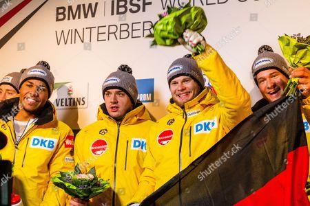 Johannes Lochner, Joshua Blum, Christian Rasp and Sebastian Mrowka