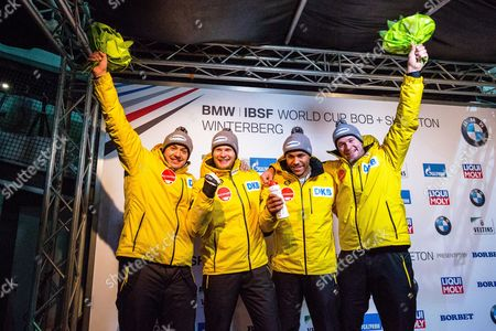 Stock Picture of Johannes Lochner, Joshua Blum, Christian Rasp and Sebastian Mrowka