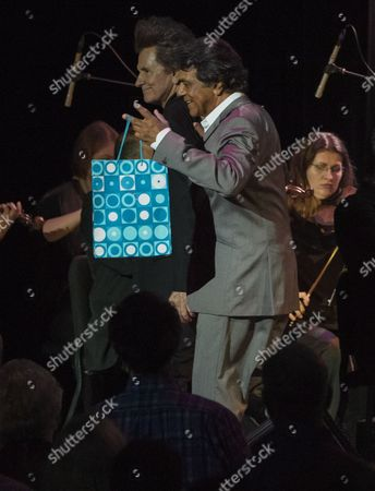 Johnny Mathis and Gary Mule Deer during the Voices of Romance Tour at the Lakeland Center in Lakeland, Florida