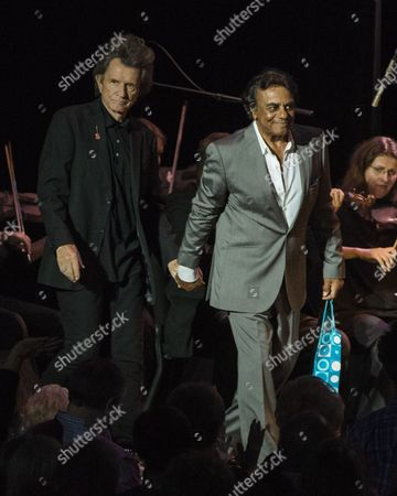 Johnny Mathis brings out Gary Mule Deer during his Voices of Romance Tour at the Lakeland Center in Lakeland, Florida