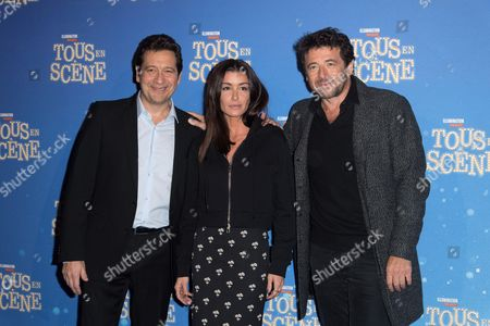 Laurent Gerra, Jenifer Bartoli and Patrick Bruel