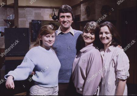 Jane Hazlegrove (as Sue Clayton) Johnny Leeze (as Harry Clayton) Susan Brown (as Connie Clayton) and Caroline O'Neill (as Andrea Clayton)