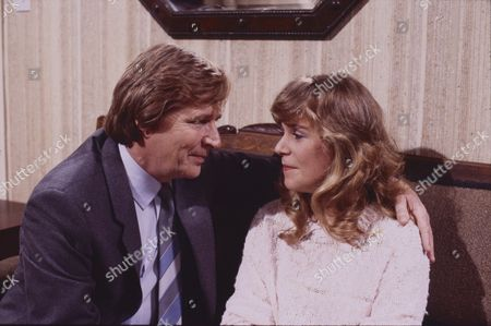 William Roache (as Ken Barlow) and Wendy Jane Walker (as Susan Barlow)
