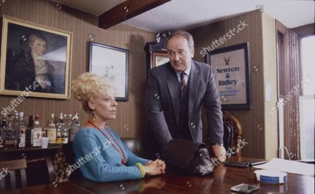 Julie Goodyear (as Bet Lynch) and Michael Browning (as George Newton)