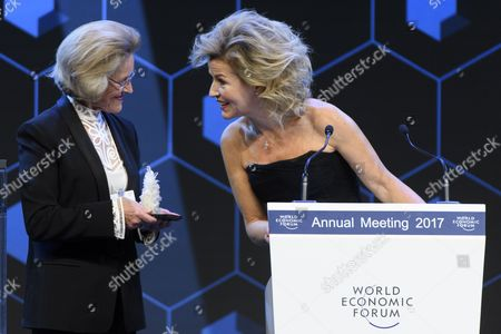 Anne-Sophie Mutter and Hilde Schwab