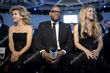 Shakira, Forest Whitaker and Anne-Sophie Mutter