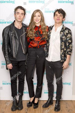 Jamie Blackley, Emma Garland and Edward Bluemel