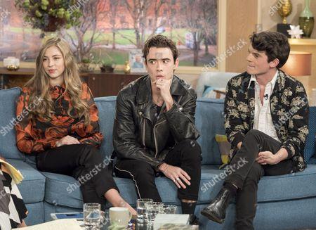 Emma Garland, Jamie Blackley and Edward Bluemel