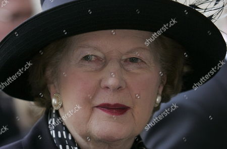 Former Conservative Prime Minister Baroness Margaret Thatcher Arrives at Westminster Abbey in Central London For the Memorial Service For Former Conservative Prime Minister Sir Edward Heath Tuesday 8 November 2005