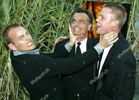 Stock Photo of Loa02 20030825 Hollywood California - Actors Jonathan Breck (l) Ray Wise (c) and Eric Nenninger Co-stars of the New Horror Film 'Jeepers Creepers 2 ' Pose For Photographers As They Arrive For the Film's Premiere in Hollywood 25 August 2003 the Film About a Group of Students On a Bus Who Become Stranded On a Deserted Highway and Are Attacked by the Creeper the Film Opens 29 August in the United States Epa Photo/epa/brendan Mcdermid Epa Photo Epa Brendan Mcdermid United States Hollywood