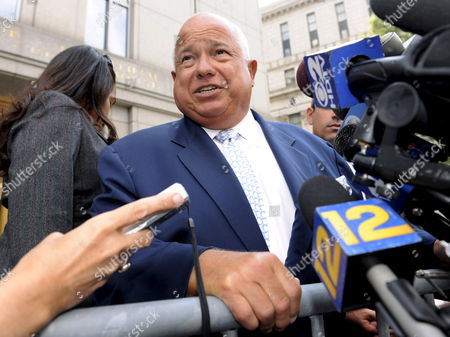 Charles Carnesi (c) Attorney For John a 'Junior' Gotti Speaks to the Press Outside of United States Federal Court Following the Arrest of His Client in New York New York Usa On 05 August 2008 Gotti Has Been Indicted On Conspiracy Charges in Florida Charges Which Link Him to Large-scale Cocaine Trafficking and Three Murder